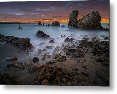 Rocky California Beach Metal Print by Larry Marshall