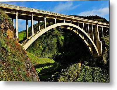Rocky Creek Bridge Metal Print by Benjamin Yeager