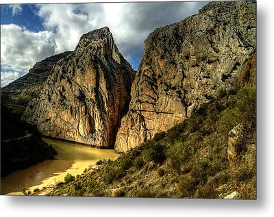 Metal Print featuring the photograph Rocky El Chorro In Andalusia by Julis Simo