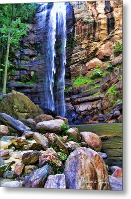 Metal Print featuring the photograph Rocky Falls by Kenny Francis