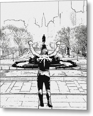 Rocky Is Philadelphia Metal Print by Bill Cannon