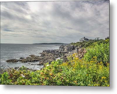 Metal Print featuring the photograph Rocky Maine Shoreline by Jane Luxton