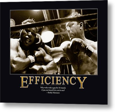Rocky Marciano Efficiency  Metal Print by Retro Images Archive