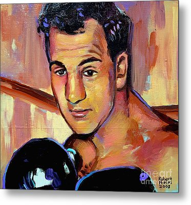 Metal Print featuring the painting Rocky Marciano by Robert Phelps