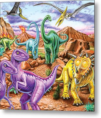 Rocky Mountain Dinos Metal Print by Mark Gregory