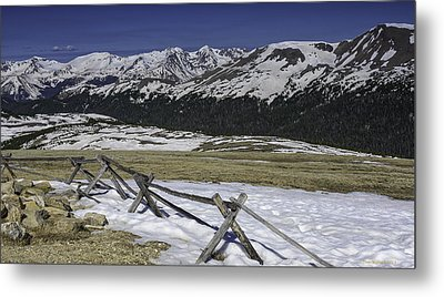 Rocky Mountain Gorge Metal Print by Tom Wilbert