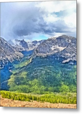 Rocky Mountain National Park Painting Metal Print
