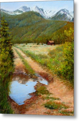 Rocky Mountain Reflections Metal Print by Mary Giacomini