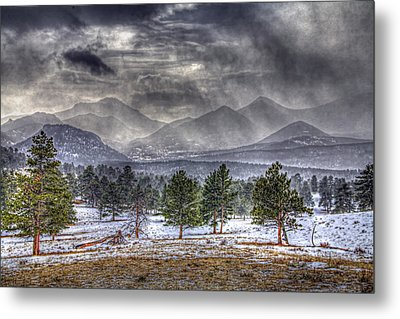 Rocky Mountain Snow Storm Estes Park Colorado Metal Print