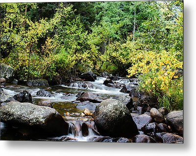 Metal Print featuring the photograph Rocky Mountain Stream by Jay Stockhaus