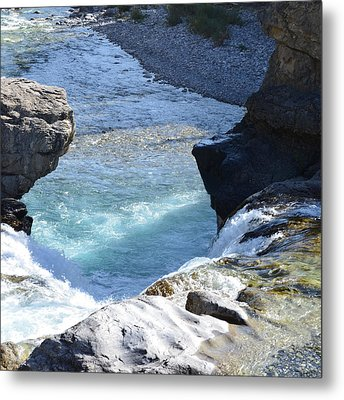 Elbow Falls Water  1.1 Metal Print