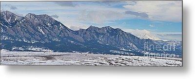 Rocky Mountains Flatirons And Longs Peak Panorama Boulder Metal Print by James BO  Insogna