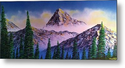 Metal Print featuring the painting Rocky Mountains by Michael Rucker