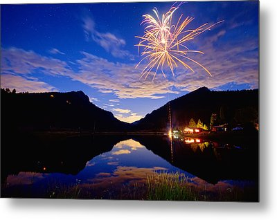 Rocky Mountains Private Fireworks Show Metal Print by James BO  Insogna
