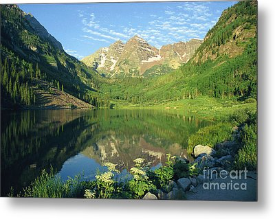 Metal Print featuring the photograph Rocky Mtn Lake Sunrise by Arthaven Studios