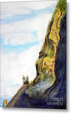 Rocky Point At Big Sur Ca Metal Print by Susan Lee Clark