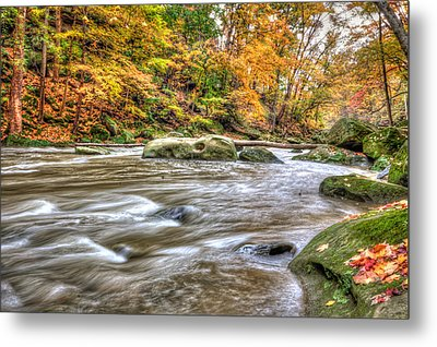 Metal Print featuring the photograph Rocky River by Brent Durken