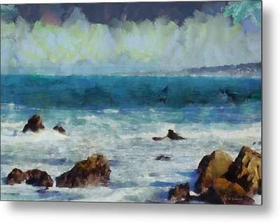 Rocky Seashore Metal Print by Kai Saarto