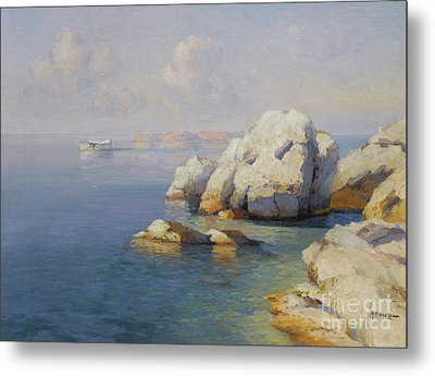 Rocky Shore Metal Print by Celestial Images