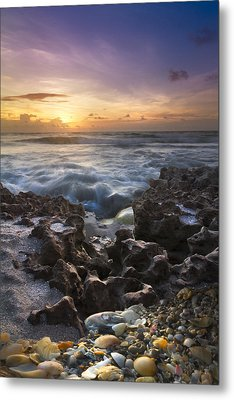 Rocky Shore Metal Print by Debra and Dave Vanderlaan