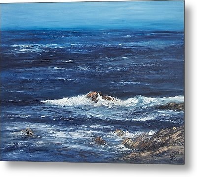 Rocky Shore Metal Print by Valerie Travers