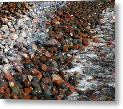 Rocky Shoreline Abstract Metal Print by James Peterson