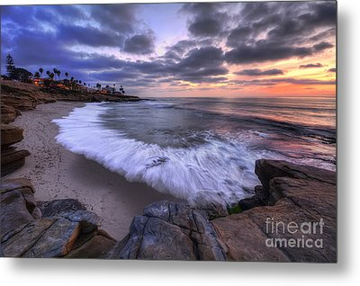 Rocky Shoreline Metal Print by Eddie Yerkish