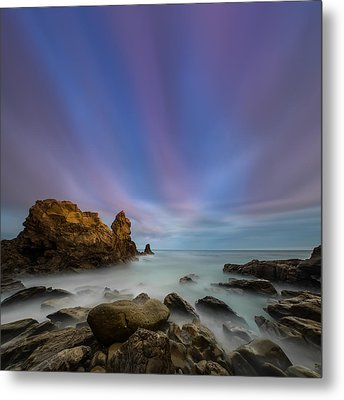 Rocky Southern California Beach 2 Metal Print by Larry Marshall