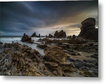Rocky Southern California Beach 4 Metal Print by Larry Marshall
