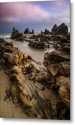 Rocky Southern California Beach 5 Metal Print by Larry Marshall