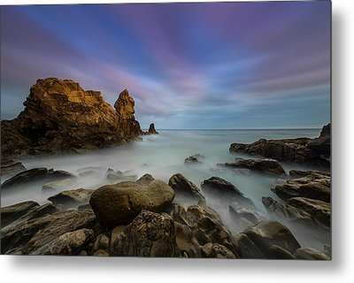 Rocky Southern California Beach Metal Print by Larry Marshall