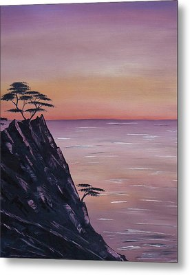 Rocky Sunset Metal Print by Barbara St Jean
