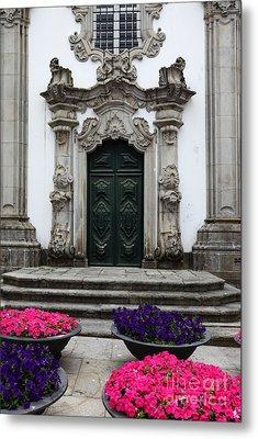 Rococo Doorway Portugal Metal Print