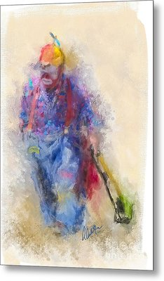 Rodeo Clown Metal Print by Andrea Auletta