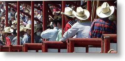 Metal Print featuring the photograph Rodeo Time Cowboys by Susan Garren