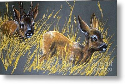 Roe Deer Metal Print by Angel  Tarantella