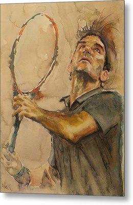 Roger Federer - Portrait 1 Metal Print
