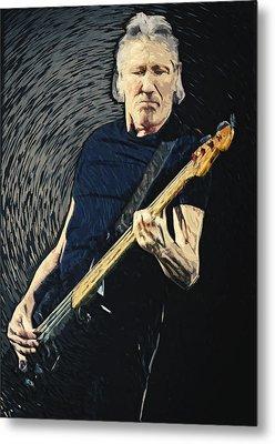 Roger Waters Metal Print by Taylan Apukovska