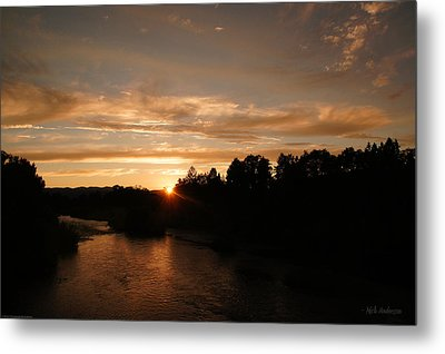 Rogue August Sunset Metal Print