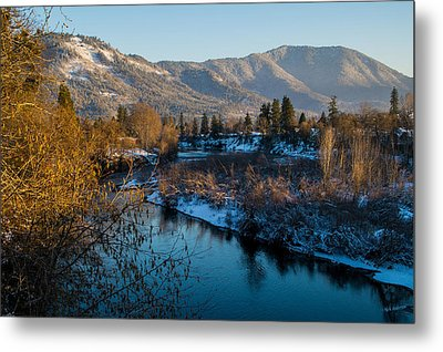 Rogue River Winter Metal Print