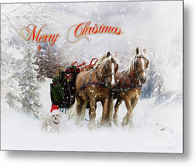 Merry Christmas Metal Print by Shanina Conway