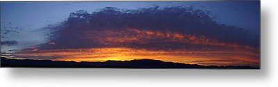 Rogue Valley Sunset Panoramic Metal Print