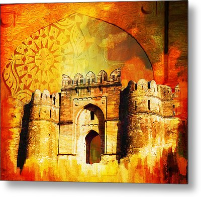 Rohtas Fort 00 Metal Print by Catf