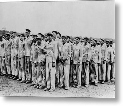 Roll Call At Buchenwald Concentration Metal Print by Everett