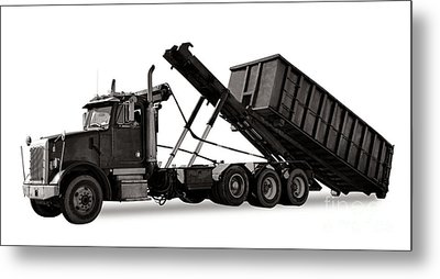 Roll Off Truck  Metal Print by Olivier Le Queinec