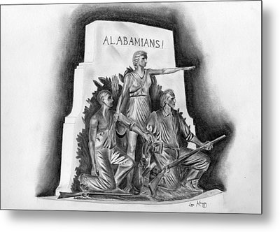 Roll Tide Alabama Monument At Gettysburg Metal Print by Lou Knapp