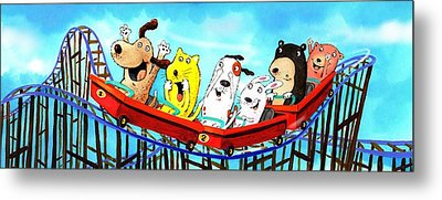 Roller Coaster Fun Metal Print by Scott Nelson