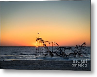 Roller Coaster Sunrise Metal Print by Michael Ver Sprill