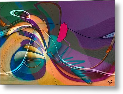 Roller Painting No. 1 Metal Print