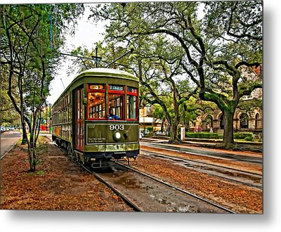 Rollin' Thru New Orleans Metal Print by Steve Harrington